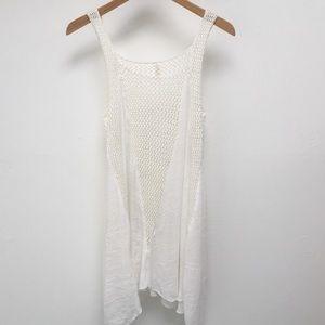 Crochet white Elan dress